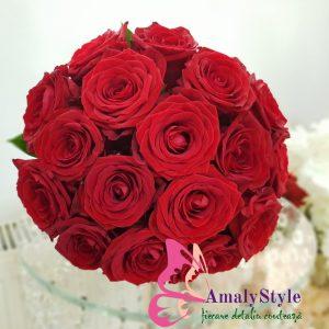 Buchet Mireasa Trandafiri Roșii